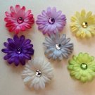 2 inch mini daisy Hair Clips - Set of 7