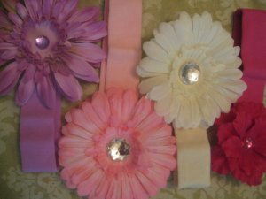 Infant/Toddler cotton headband mix- 4Headbands