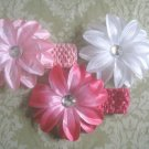 Infant/Toddler crochet Tropical flower headband mix- 3 Headbands