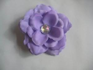 3 inch small rose Hair Clip - Lavender