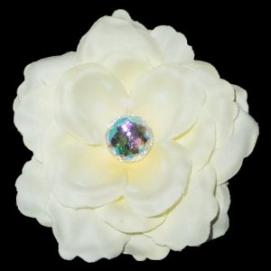 3 inch small rose Hair Clip - Ivory