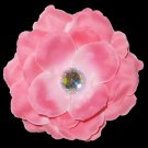 3 inch small rose Hair Clip - light pink