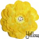 4.5 inch Dahlia Hair Clip - Yellow