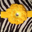 4.5 inch Dahlia headband - Yellow