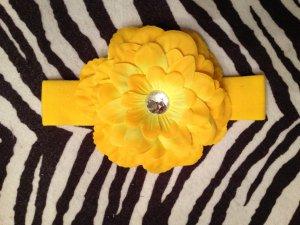 4.5 inch Dahlia headband - Yellow