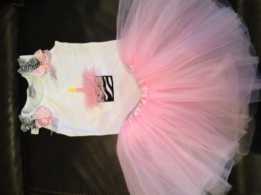 Birthday tank with matching tutu - pink small
