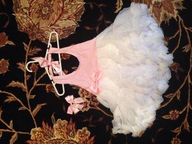 Halter petti dress- pink size 4t