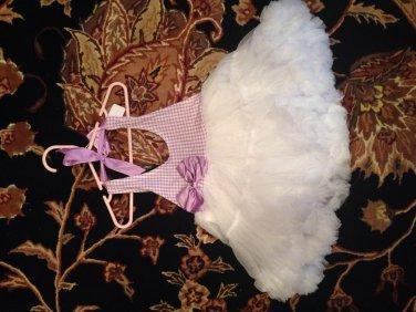 Halter petti dress- lavender size 4t