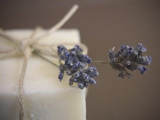 Large handmade Olive Oil Lavender Soap Loaf