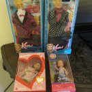 MATTEL BARBIE, KEN & KELLY LOT CLOTHES, DOLLS NEW, NRFB