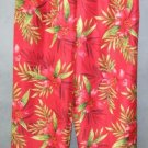 SILKLAND pretty floral SILK PANTS size 8