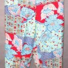 KOOS OF COURSE patchwork capri PANTS size 6