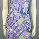 GINGER retro print DRESS size 8 / 10