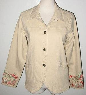 DENIM & CO gorgeous stretch JACKET size small