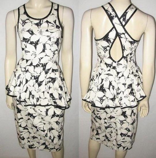 L ROTHSCHILD black & white DRESS size 8