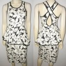 L ROTHSCHILD black & white DRESS size 8