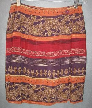 INTRIGUING THREADS gorgeous WRAP SKIRT size 2 / 4
