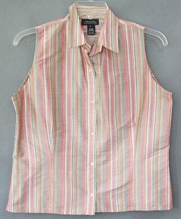 JONES NEW YORK silk blouse TOP size large