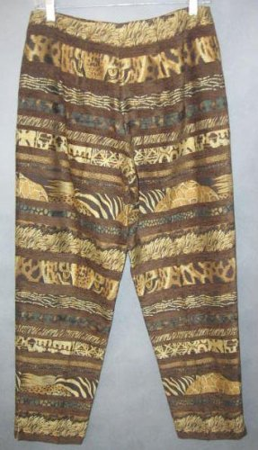 SHARON ENDICK gorgeous tapestry PANTS size 8