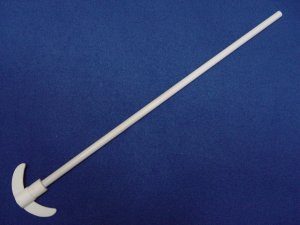 PTFE stirrer: 90mm blade, 10mm 550mm shaft