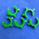 5 x Keck clamps clips: 24/40, 24/29, Polyacetal
