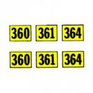 AMERICAN FLYER TRAINS GILBERT 360 NUMBER STICKER