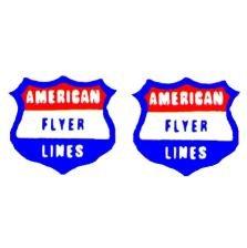AMERICAN FLYER GILBERT HANDCAR/S. BULLET NOSE STICKERS