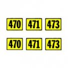 AMERICAN FLYER TRAINS GILBERT 470 NUMBER STICKER