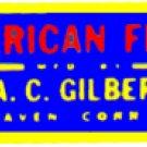 AMERICAN FLYER TRAINS GILBERT ACCESSORY STICKER