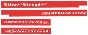 AMERICAN FLYER GILBERT SILVER STREAK DECALS SET