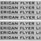 660,1,2 ,3 PASSENGER NAME PLATE for AMERICAN FLYER TRAINS GILBERT