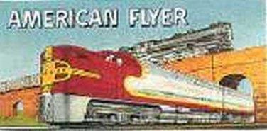 SANTA FE/STEAM BILLBOARD STICKER for AMERICAN FLYER TRAINS GILBERT