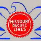 MISSOURI PACIFIC NOSE  STICKERS for AMERICAN FLYER TRAINS GILBERT