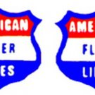 HANDCAR/SILVER BULLET NOSE STICKERS for AMERICAN FLYER TRAINS GILBERT