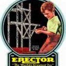 BLACK BACKGROUND BOX LABEL for GILBERT ERECTOR SET