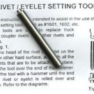 "3/16"" Diameter EYELET RIVET SETTING TOOL for AMERICAN FLYER S Gauge Scale Trains"
