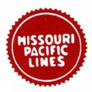 MISSOURI PACIFIC CAR ADHESIVE STICKER for American Flyer S Gauge Trains
