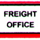 HARBOR JUNCTION FREIGHT OFFICE SIGN for American Flyer FLYERVILLE MINI-CRAFT