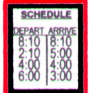 TRAIN SCHEDULE SIGN for American Flyer  FLYERVILLE MINI-CRAFT