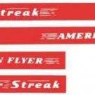 SILVER STREAK DIESEL WATER SETTING DECAL SET for American Flyer S Gauge Trains