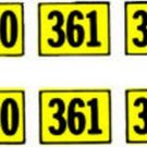 360 361 364 NUMBER WATER SETTING DECAL for American Flyer ALCO DIESEL Trains