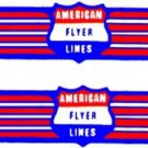 HANDCAR w/WINGS ADHESIVE STICKER for American Flyer S Gauge Scale Trains