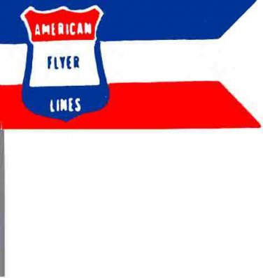 FLAG 793/799 UNION STATION w/staff for American Flyer S Gauge Trains