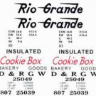 COOKIE BOX CAR ADHESIVE STICKER for American Flyer S Gauge Trains