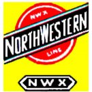 C & NW BOXCAR ADHESIVE STICKER for American Flyer S Gauge Scale Trains