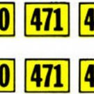 470 471 473 ALCO DIESEL SANTA FE SELF ADHESIVE STICKER for American Flyer Trains