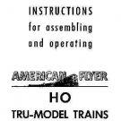 1949 INSTRUCTION MANUAL for GILBERT HO /AMERICAN FLYER TRAINS reprint