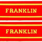 FRANKLIN OLD TIME STEAM ENGINE CAB STICKER for American Flyer S Gauge Trains