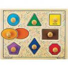 Geometric Shapes Knob Puzzle