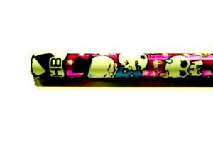 Kawaii Skulls Pencil (Dark Pink)